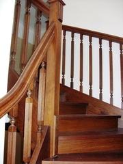Изготовление лестниц из ценных пород дерева. - foto 2