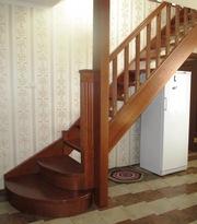 Изготовление лестниц из ценных пород дерева.