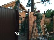 Откатные ворота и заборы под ключ в СПб - foto 0